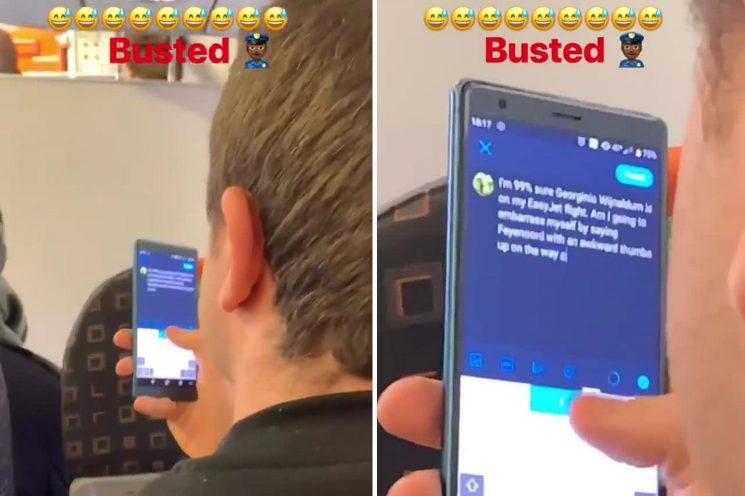 Gini Wijnaldum takes brilliant video of fan on EasyJet flight tweeting about sitting near Liverpool star