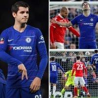 Chelsea 2 Nottingham Forest 0: Alvaro Morata hits double but Cesc Fabregas misses penalty in farewell game for Blues