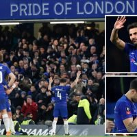 Emotional Cesc Fabregas leaves Stamford Bridge in tears after playing final game for Chelsea