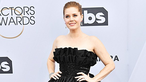Amy Adams Is Ultra-Chic In Black Peplum Gown At SAG Awards — Pic