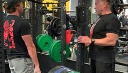 Arnold 'The Boss' Schwarzenegger Gives Son Joseph Baena Tips as He Lifts Weights: 'Always 100%'