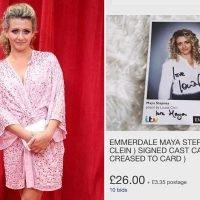 Emmerdale stars blast eBay user selling their free signed photographs online