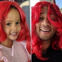 John Legend and Luna Simone Wig Out on Adorable Father-Daughter Play Date: 'She Loves This Wig'