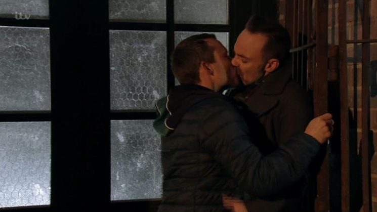 Coronation Street fans shocked as Gemma's convict brother Paul shoves vicar Billy against the wall and kisses him as he finally makes his move