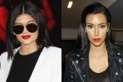 Kylie Jenner Looks Identical To Kim Kardashian With Black Hair & Red Lips – Can You Tell Them Apart?