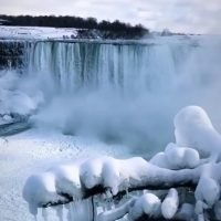 Niagara Falls Is Freezing Over: See the Stunning Video that Looks Like Something Out of Frozen