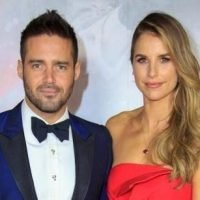 When was Vogue Williams and Spencer Matthews' wedding and how long have they been dating?