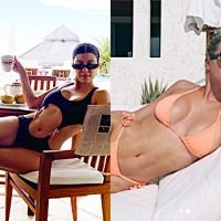 Kourtney Kardashian & Sofia Richie's Vacation Looks With Scott Disick — Bikinis, Wraps & More