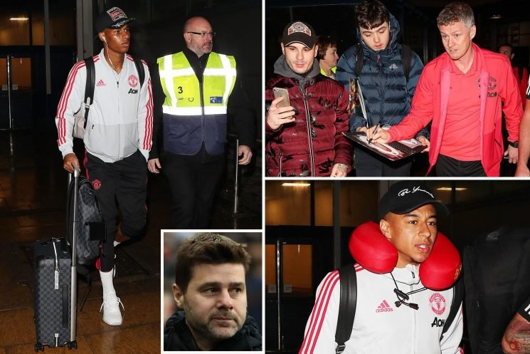 Solskjaer admits Poch deserves Old Trafford job link as Man Utd return home from Dubai training break