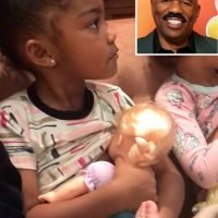 Steve Harvey Fans Shut Down Trolls Over Video Wife Posts of Grandkids 'Breastfeeding' Baby Dolls