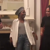 Victoria Beckham shows her fun side as she dances with Tina Turner Musical star