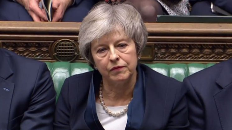 Britain's Theresa May faces 'no-confidence' vote after large Brexit defeat