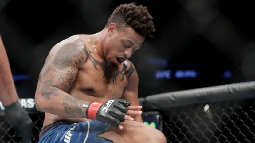 Greg Hardy disqualified from his UFC debut for illegal knee vs. Allen Crowder