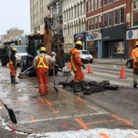 Dundas Street down to one lane for emergency repair of broken watermain