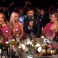 'Frosty' Little Mix roll eyes during awkward chat with Jack Whitehall at BRITs