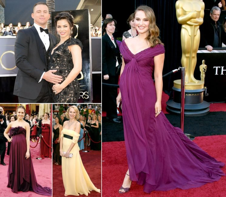 Pregnant Celebrities Show Off Baby Bumps on the Oscars Red Carpet: Pics
