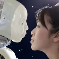 Bizarre 'robot marriage-hunting parties' let singletons flirt through robots