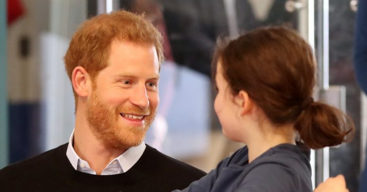 Prince Harry's Face as He Hangs Out With Kids Will Melt Even the Coldest of Hearts