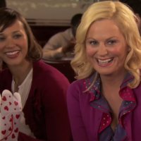 This Photo Of The 'Parks & Rec' Ladies Celebrating Galentine's Day Is Seriously Adorable