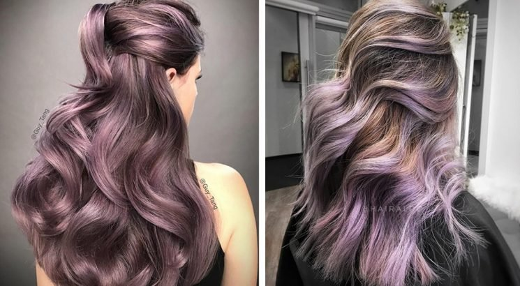 These Photos Of Chocolate Lilac Hair Are All The Inspiration You Need For Your Next Dye Job