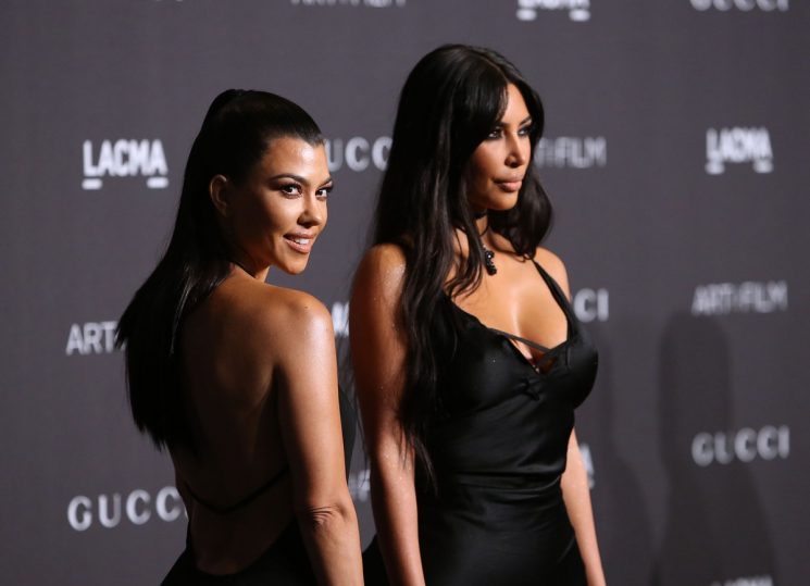 Kim & Kourtney Kardashian's Hanacure Face Mask Selfie Has Instagram Feeling Some Type Of Way