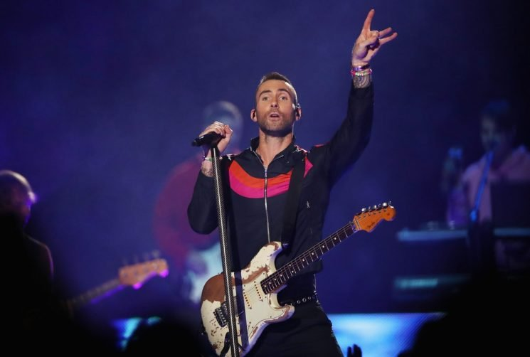 Adam Levine Wore Nike At The Super Bowl 2019 Halftime Performance & Twitter Had Thoughts