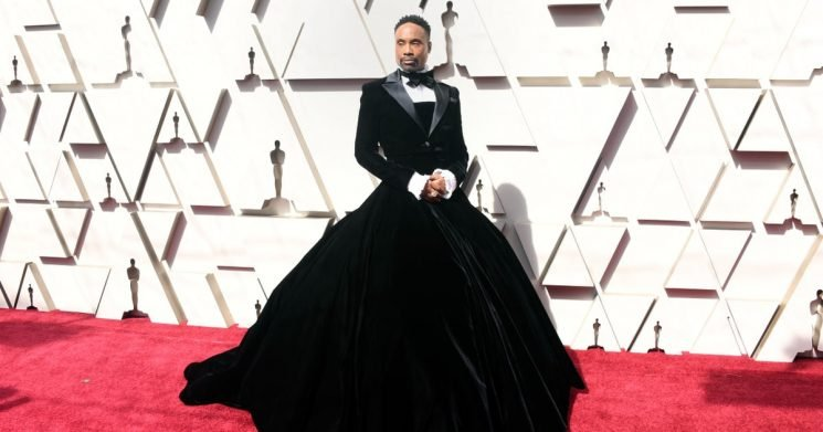 I Could Never Strike a Pose Like Billy Porter Did in This Velvet Tuxedo Gown at the Oscars