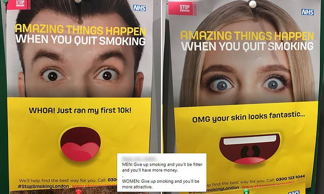 NHS-backed stop smoking campaign is slammed as sexist