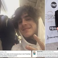 Air passenger posts hilarious tweets after meeting Timothee Chalamet