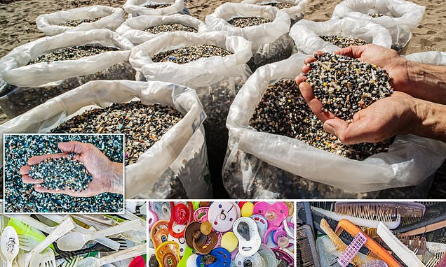Millions of toxic beads are picked up on a stretch of Cornish coast