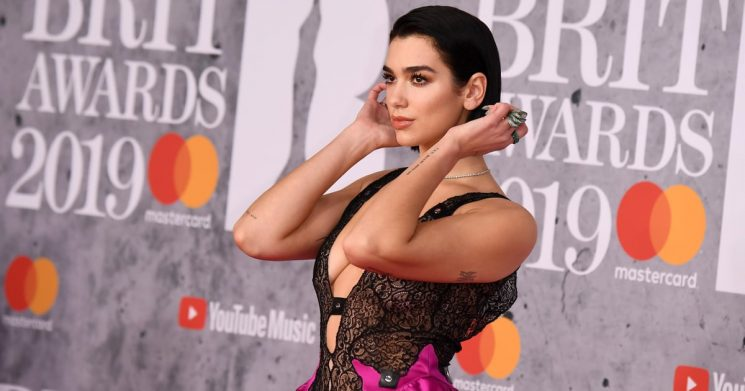 Dua Lipa's Sexy and Sweet Brit Awards Gown Is Telling 2 Different Stories, and We're All Ears
