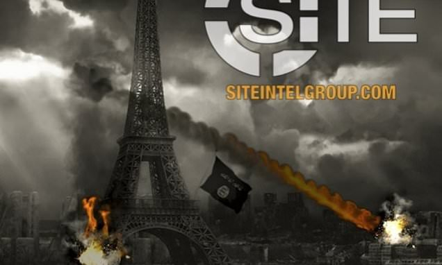 ISIS call for lone wolf attacks in Paris in poster or Eiffel Tower
