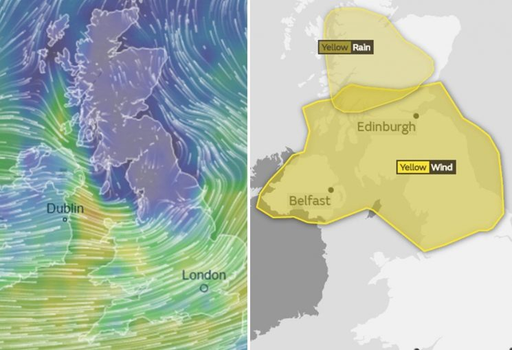 Storm Erik forecast to hit UK with freezing rain and 80mph gales this weekend as met issue 'risk to life' warning