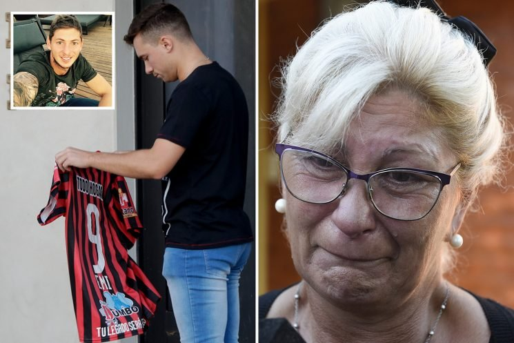 Emiliano Sala's family break down in tears as hundreds of mourners carry memorial football shirts to tragic Premier League star's funeral