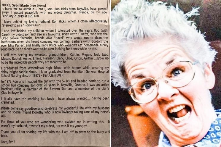 Nan's obituary goes viral after she jokes 'I finally have the smoking hot body I always wanted… because I was cremated'