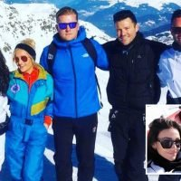 Mark Wright and wife Michelle Keegan enjoy fun-filled skiing holiday with pals after he quits Extra presenting job in LA