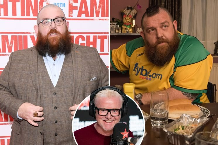Nick Frost tells Chris Evans he ate one cake a DAY filming new movie Fighting With My Family