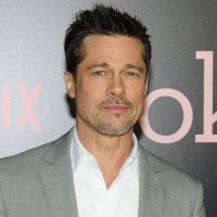 Brad Pitt Seen Outside Jennifer Aniston's 50th Birthday Party