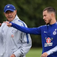 Hazard says he is a fan of 'Sarri-ball' in public backing of under-fire Chelsea boss, despite frustration of being played out of position