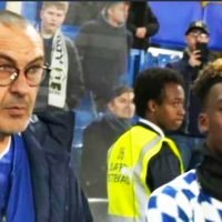Hudson-Odoi gives Sarri 'daggers' from Chelsea bench after youngster isn't used again during Man Utd defeat in FA Cup