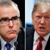 What did Andrew McCabe say about Donald Trump and how did the US President react?