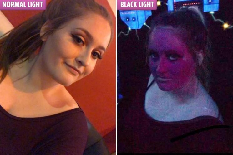Girl's face goes bright purple like 'Violet in Charlie and The Chocolate Factory' after Huda Beauty makeup fail