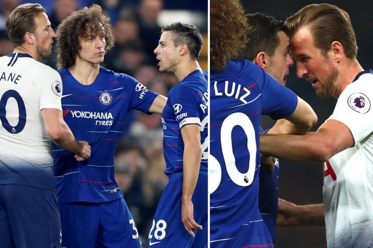Harry Kane could MISS Arsenal derby and faces three-match ban after appearing to headbutt Chelsea captain Cesar Azpilicueta