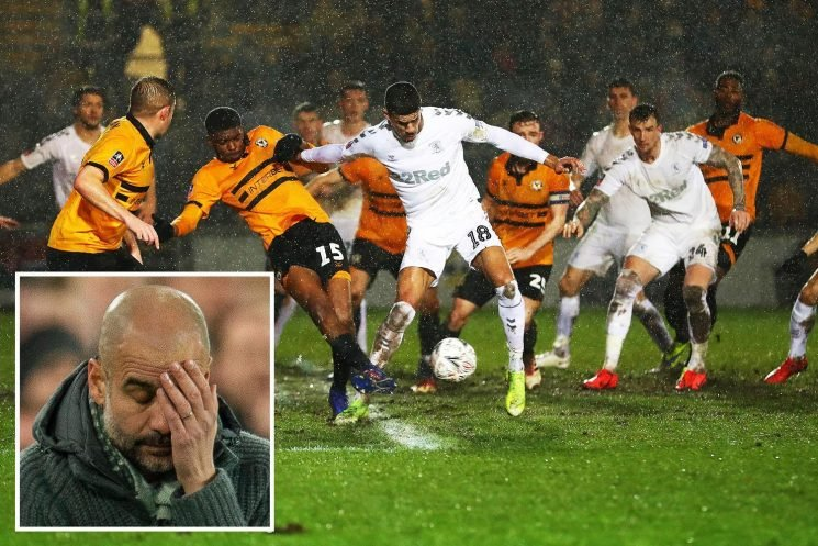 Man City warned quadruple bid could be ruined by 'bobbly pitch' at Newport, with Pep Guardiola terrified superstars will struggle