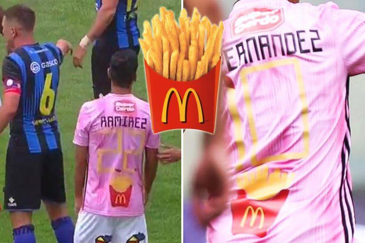 Social media 'Lovin' Chilean side O'Higgins FC bizarre McDonald's inspired kit