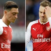 Ozil and Ramsey left out of Arsenal squad for Europa League trip to BATE Borisov