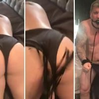 Moaning Ricky Hatton has bum whipped while wearing handcuffs and S&M ball gag in amazing Valentine's Day Instagram video