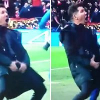 Twitter loves Simeone's X-rated celebration after Atletico's first goal against Juventus