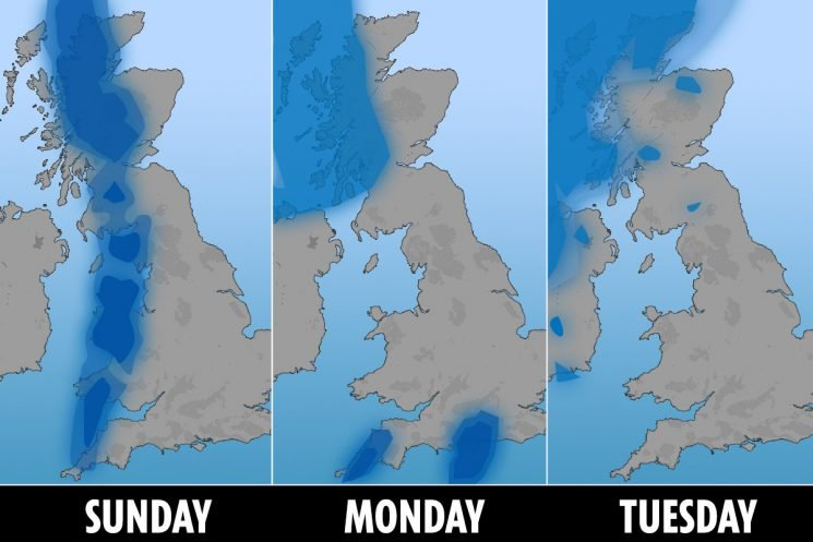 UK weather forecast – Britain to bask in sunshine today before SNOW and Arctic blast returns