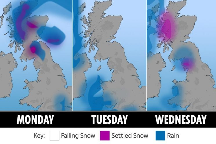 UK weather – snow and -6C icy temperatures forecast to hit Britain tonight, Met Office warns